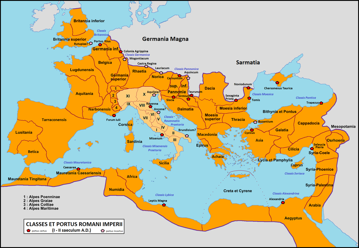 The Roman Navy Life In The Roman Empire - Ancient rome map roman empire